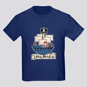 Ahoy Matey Pirate Kids Dark T-Shirt