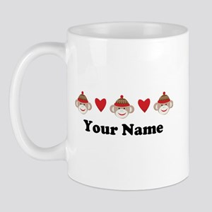 Personalized Sock Monkey Mug