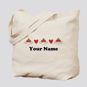 Personalized Sock Monkey Tote Bag