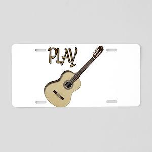 PLAY- CLASSICAL GUITAR Aluminum License Plate