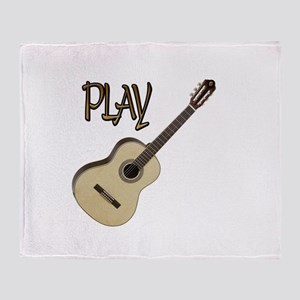 PLAY- CLASSICAL GUITAR Throw Blanket