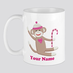 Custom Christmas Sock Monkey Mug