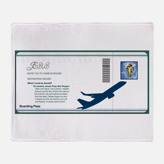Boarding Pass Throw Blanket