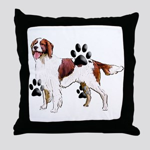 setter and Paws Throw Pillow