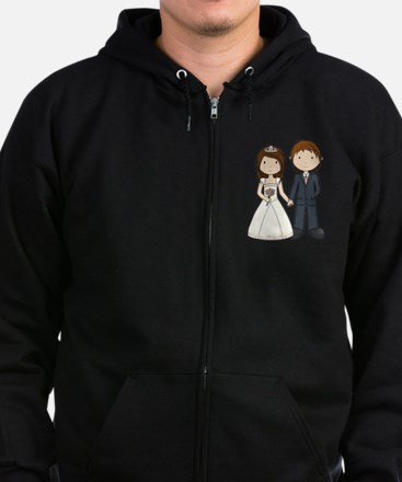 Wedding Couple Zip Hoodie (dark)