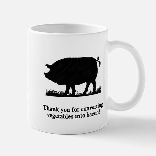 Pig Vegetables Into Bacon Mug
