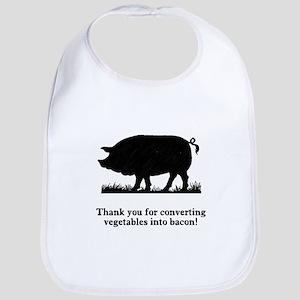 Pig Vegetables Into Bacon Bib