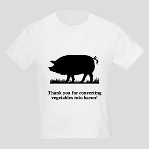 Pig Vegetables Into Bacon Kids Light T-Shirt