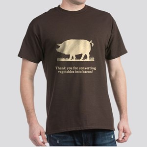 Pig Vegetables Into Bacon Dark T-Shirt