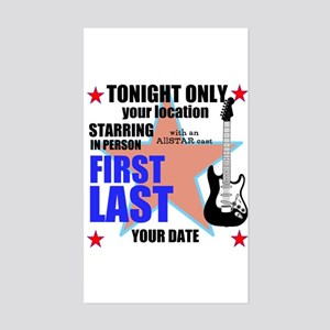Music Poster Sticker (Rectangle)
