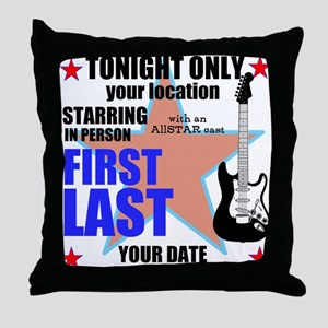 Music Poster Throw Pillow