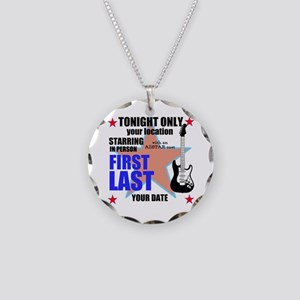 Music Poster Necklace Circle Charm