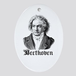 Beethoven Ornament (Oval)