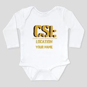 Customizable CSI Long Sleeve Infant Bodysuit