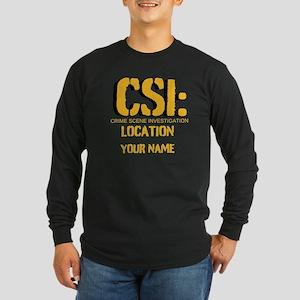 Customizable CSI Long Sleeve Dark T-Shirt