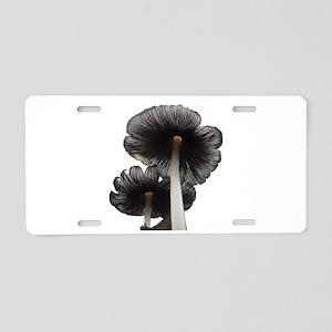 Two Mushrooms Aluminum License Plate
