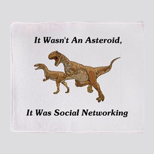It Was Social Networking Throw Blanket