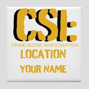 Customizable CSI Tile Coaster