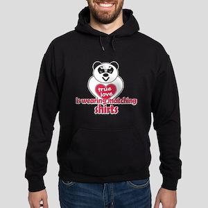 True Love Panda Hoodie (dark)