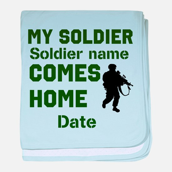 Customizable Soldier Homecoming baby blanket