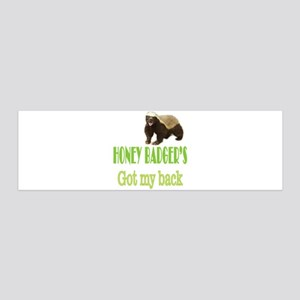 Honey Badger's Got My Back 36x11 Wall Decal