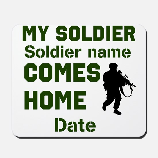 Customizable Soldier Homecoming Mousepad