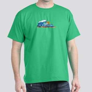 Provincetown MA - Waves Design. Dark T-Shirt