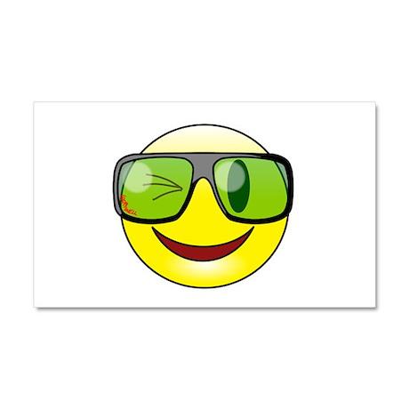Smiley Specs Car Magnet 20 x 12