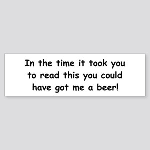 Beer gift Sticker (Bumper)