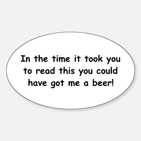 Beer gift Sticker (Oval)