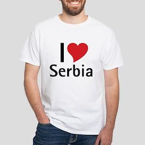I love Serbia White T-Shirt