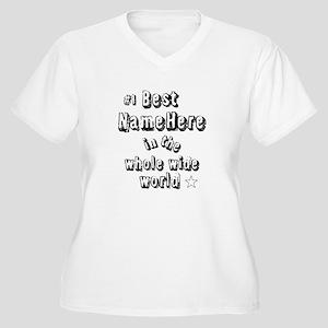 Best Blank Women's Plus Size V-Neck T-Shirt