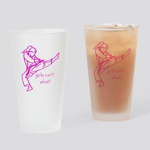 Girls Can't what? Drinking Glass