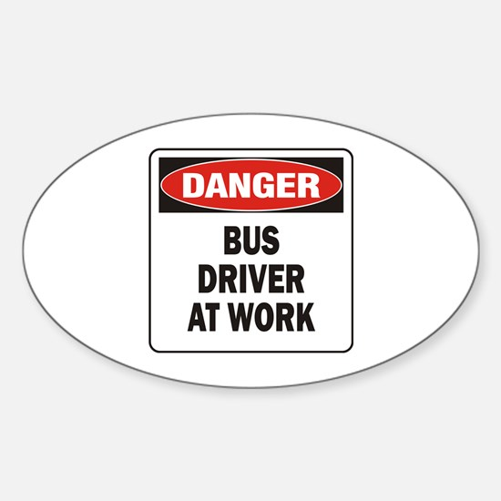 Bus Driver Sticker (Oval)