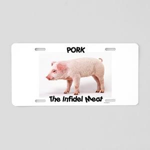 Pork Aluminum License Plate