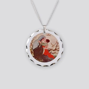 Mary, Mother of God Necklace Circle Charm