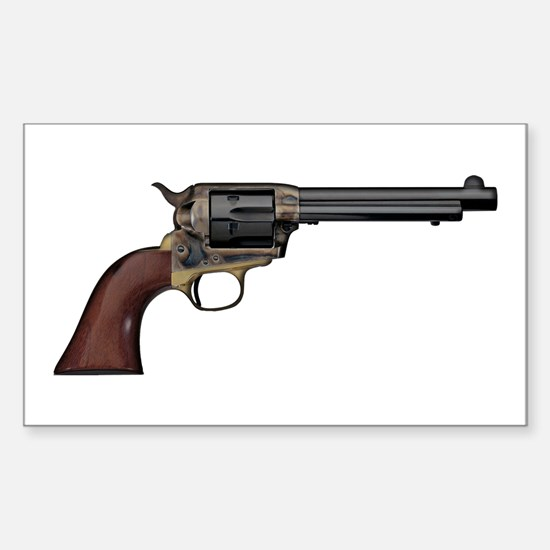 Vintage, Six Shooter Sticker (Rectangle)