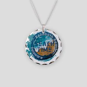 Rehoboth Beach Necklace Circle Charm