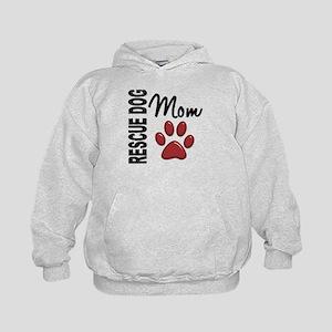 Rescue Dog Mom 2 Kids Hoodie