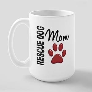 Rescue Dog Mom 2 Large Mug
