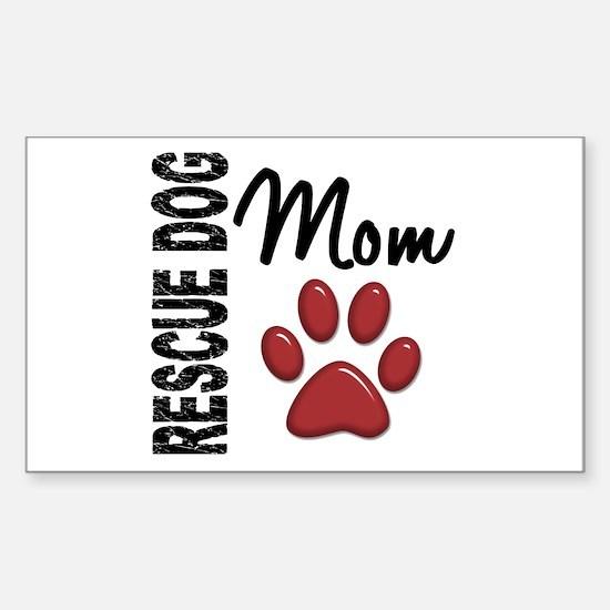 Rescue Dog Mom 2 Sticker (Rectangle)