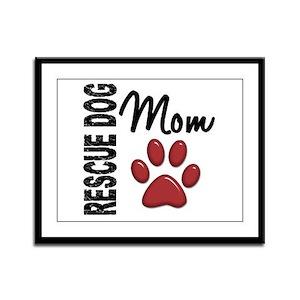Rescue Dog Mom 2 Framed Panel Print