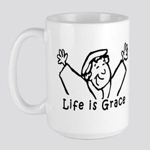 Life is Grace Large Mug