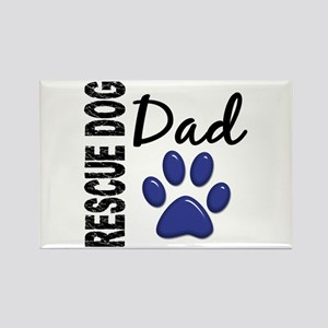 Rescue Dog Dad 2 Rectangle Magnet