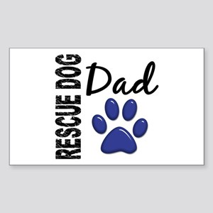 Rescue Dog Dad 2 Sticker (Rectangle)