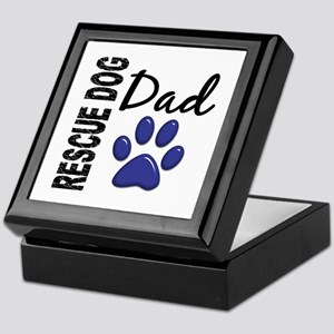 Rescue Dog Dad 2 Keepsake Box
