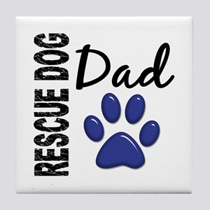 Rescue Dog Dad 2 Tile Coaster