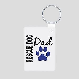 Rescue Dog Dad 2 Aluminum Photo Keychain