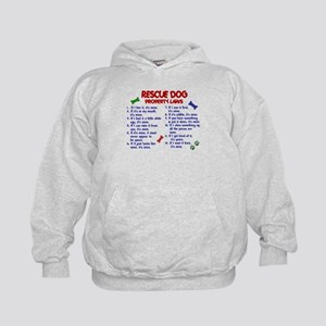 Rescue Dog Property Laws 2 Kids Hoodie
