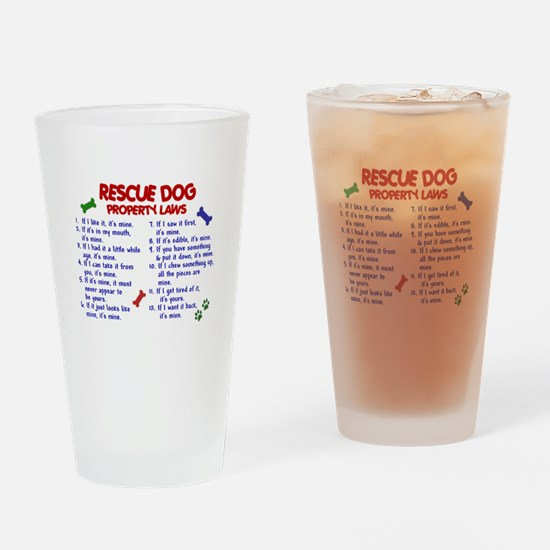 Rescue Dog Property Laws 2 Drinking Glass